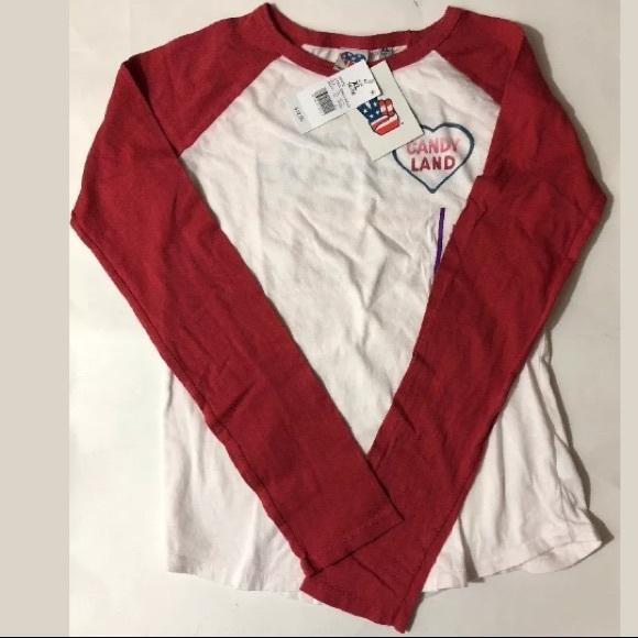 703bb1a4 Junk Food Girls' Long Sleeve T-Shirt Candy Land NWT